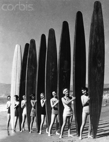 Women with Surf Paddleboards