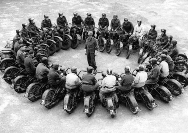 Canadian Army Motorcyclists, 1943